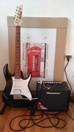 Gitara elektryczna +wzmacniacz+akcesoria