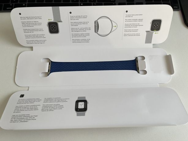 Pasek Aple watch 44/42mm Solo Loop niebieski od Apple Watch 6