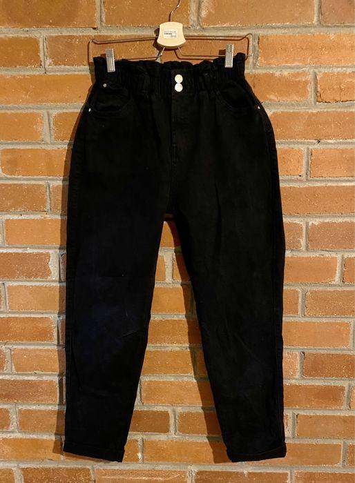 Bershka r.38 czarne spodnie Magdalenka - image 1