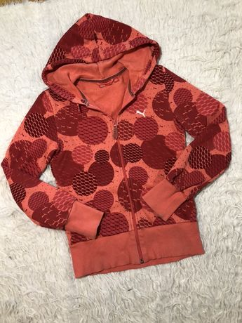 Bluza Puma z kapturem damska rozmiar S pomarańczowa