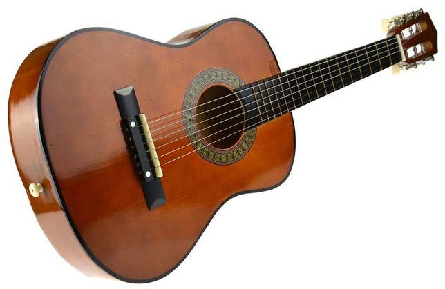 Gitara Dla Dzieci Duża Drewniana Klasyczna 6 Strun 80 Cm