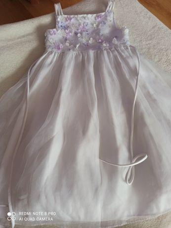 Sukienka cinderella biała 122
