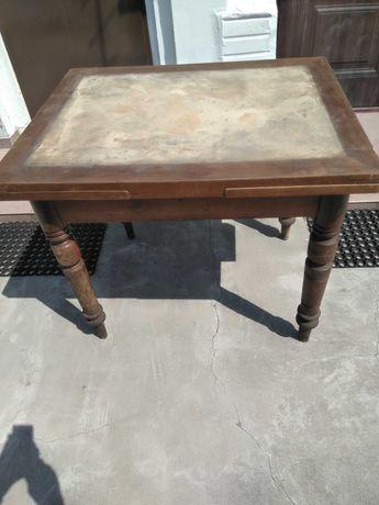 Stół drewniany pokojowy  przedwojenny antyk