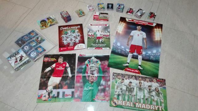 Zestaw dla kibica, fana piłki nożnej, karty,plakaty,albumy,gra,puzzle