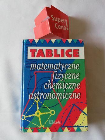 """książka """"tablice matematyczne, fizyczne, chemiczne, astronomiczne"""""""