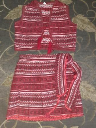Украинский костюмчик - юбка-плахта и жилет. На рост 98.