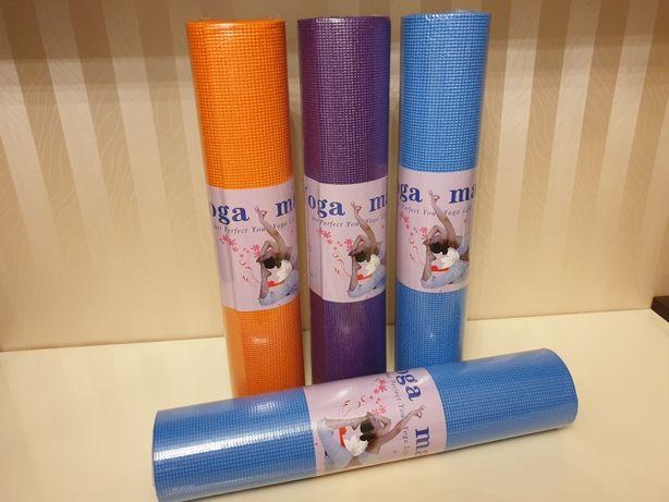 Коврик, каремат для йоги, йога мат, йогамат PVC (ПВХ), толщина 6 мм