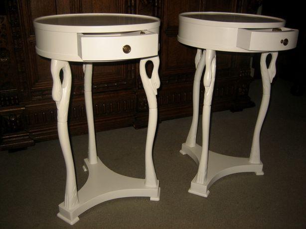 Unikatowe białe włoskie 2 stoliki szafki SELVA