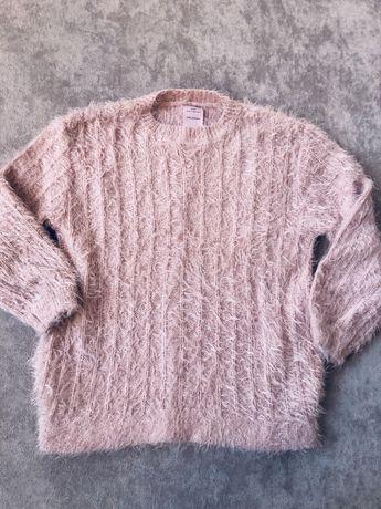 Włochaty sweter Zara sweterek 128 cm