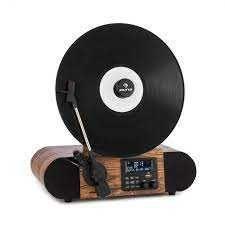 Gramofon retro radio DAB+ USB BT drewno AUX