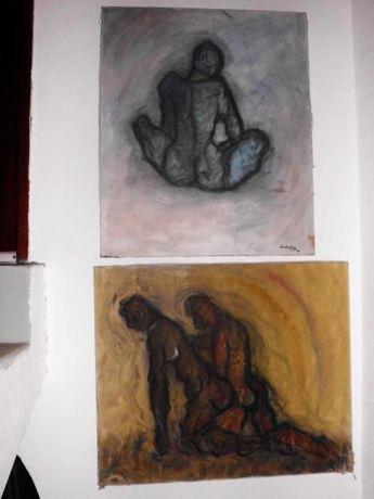 2 pinturas eróticas em óleo sob tela - assinadas