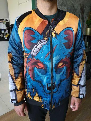 bomberka bomber kurtka z wilkiem wilk wzory kolorowa Freshhoods XL