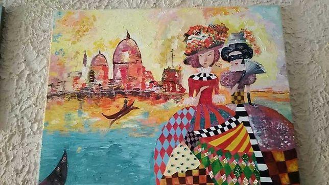 Promocja obraz karnawał płótno farby olejne