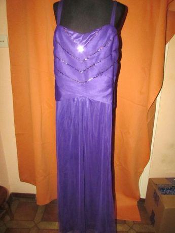BODYFLIRT Modna Fioletowa Sukienka z Cekinami