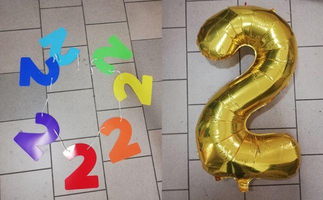 girlanda balon na drugie 2 urodziny dziecka