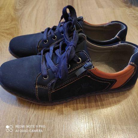 Buty granatowe zamszowe rozmiar 38