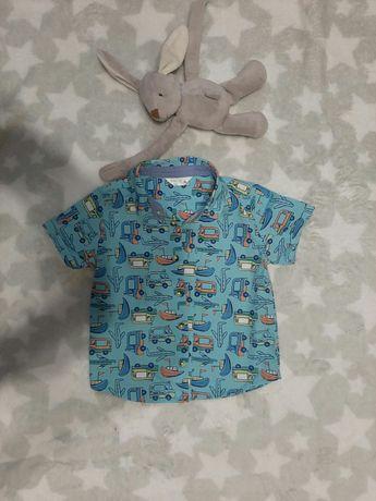 Продам рубашки на мальчика р. 68-74