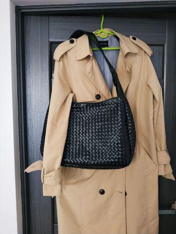 Большая кожаная плетёная сумка натуральная кожа шкіра