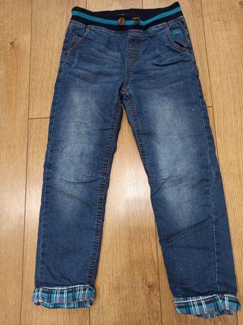Spodnie jeansowe ocieplane CoolClub stan bardzo dobry r. 128
