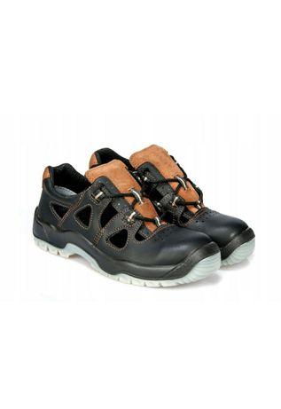 Polskie buty ze skóry bydlęcej,licowej,sandały PPO S52 roz.44 wkł 29.