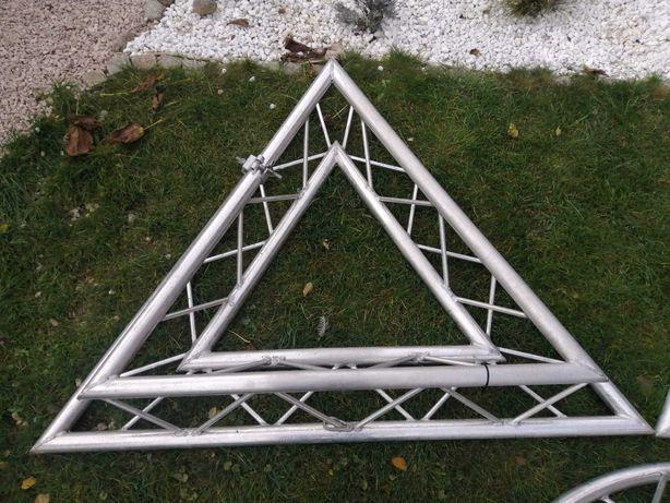 TRI - SYSTEM trawers aluminium trójkąt, koło klub dyskoteka  3szt