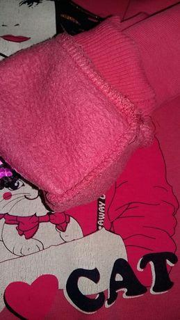 Кофта, свитер, теплая кофта для девочки на флисе