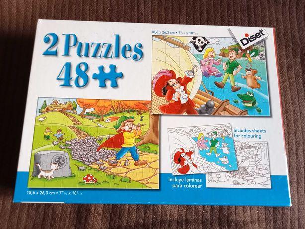 2 puzzles de 48 peças cada