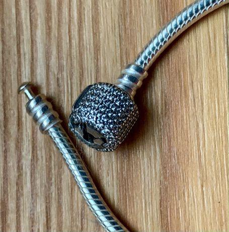 Pandora -nowa, oryginalna bransoletka Moments zapięcie z baryłką r 18