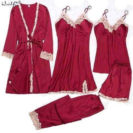 Комплект ( халат, пижама-двойка, пеньюар, штаны ) код товара 226