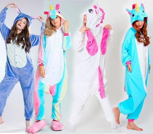 Пижама Кигуруми Единорог розовый радужный голубой Футужама Стич, панда