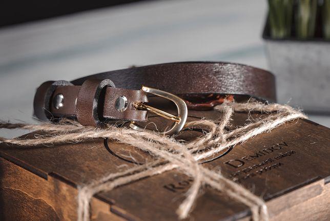 Ремень кожаный Коричневый ручной работы 20 мм