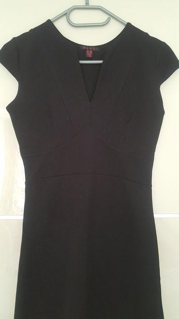 Rozm.XS/34 mała czarna sukienka mini
