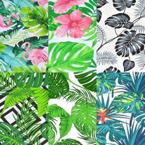 Nowe zasłony liście palma kwiaty 160/250 poszewki bieżnik