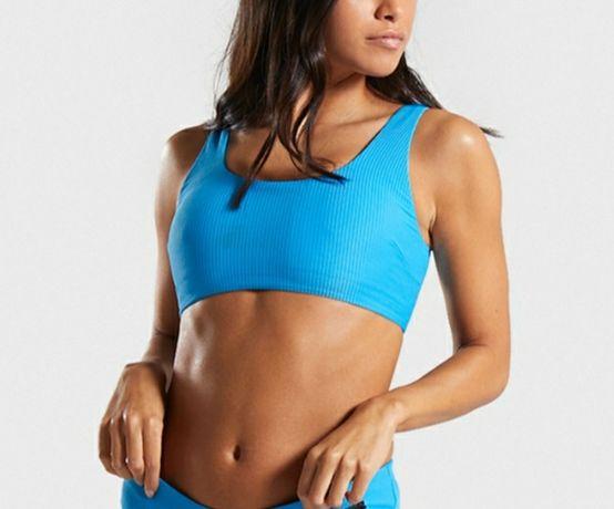 Gymshark stanik sportowy crop top essence bikini top r. S nowy