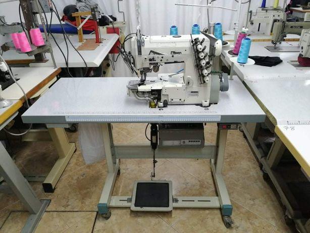 Maquina de recobrimento bainhas 5 fios monofasica com motor servo