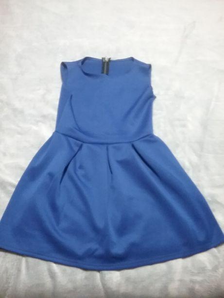 Niebieska sukienka m/l