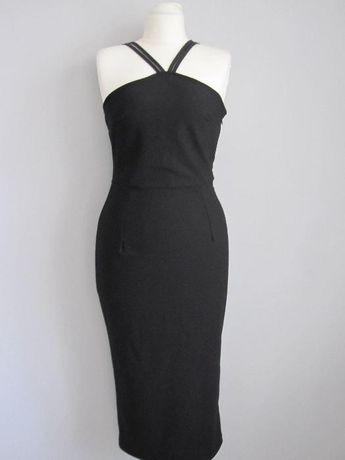 Seksowna czarna sukienka wieczorowa, S + gratis