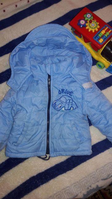Осенняя курточка на мальчика 80 размер
