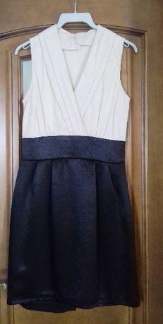 Beżowo-czarna sukienka Atmosphere Primark rozmiar 38 (10 UK)