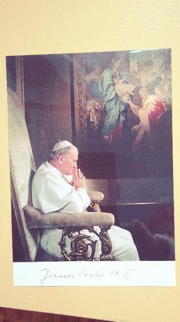 Zdjęcie Papieża Jana Pawła II oryginalna karta pocztowa ze zdjęciem