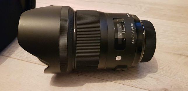 Sigma 35 mm f/1.4 A DG HSM z filtrem uv