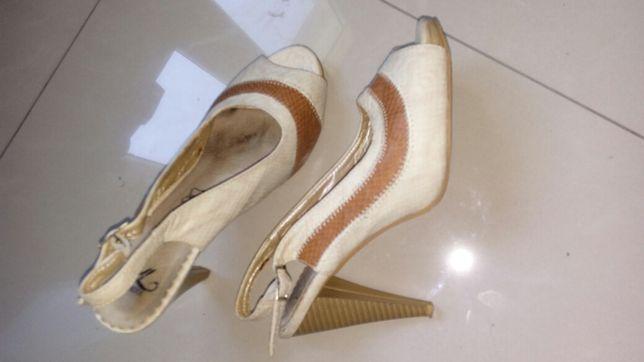 Piękne buty peep toe r 36