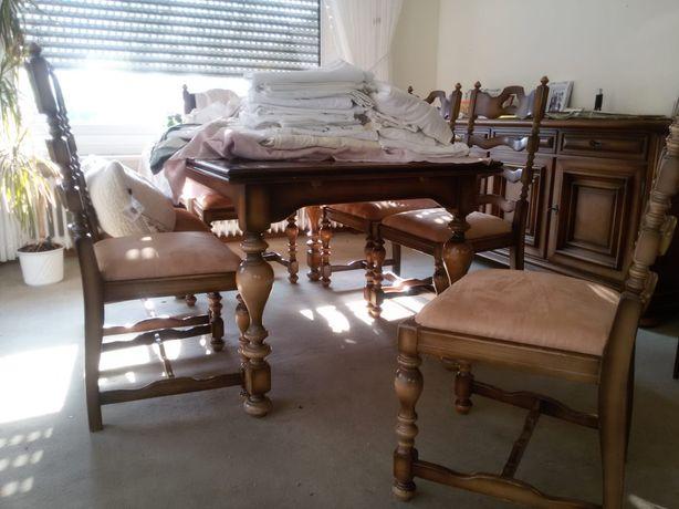 Komplet stół i krzesła 6 szt. Warrings