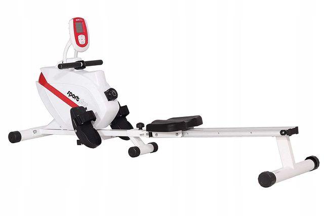 Wioślarz magnetyczny SportPlus SP-MR-008, licznik, biały