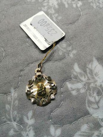 Złoty medallik. Pr. 0.585