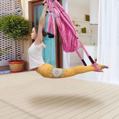 Regulowany zestaw pasków do huśtawki do jogi z akcesoriami, w tym zest