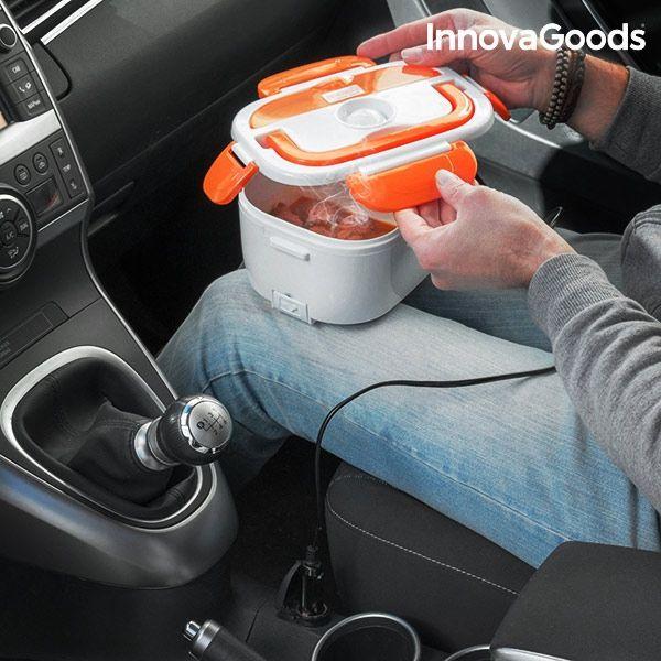 Lancheira elétrica para carro 40W 12 V branco laranja - NOVA