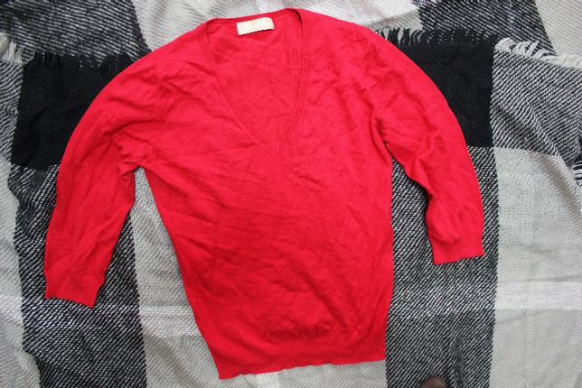 Кофта свитер пуловер красный xs-s