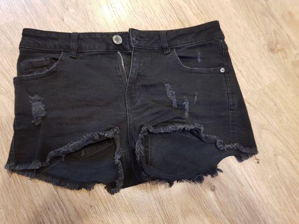 Spodenki krótkie czarne xs