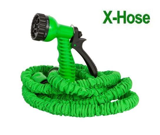 Шланг для полива, садовый поливочный шланг XHOSE с распылителем!!!